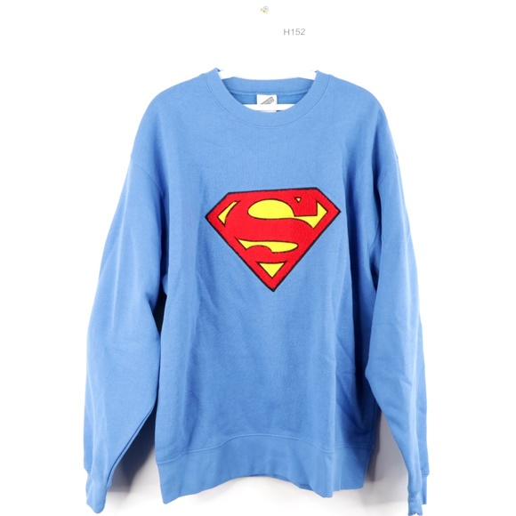 Warner Bros. Other - Vintage 90s Warner Bros Superman Sweatshirt Blue